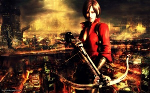 ada wong with a cross bow
