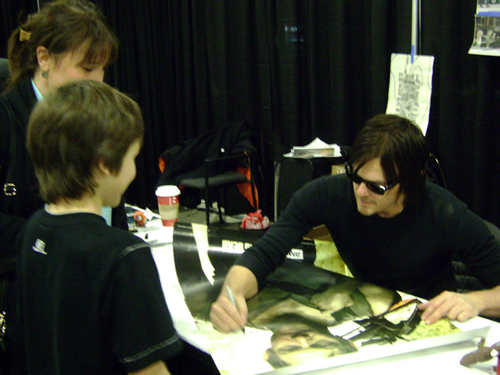 Connor meets the Walking Dead's Norman Reedus (AKA Daryl)